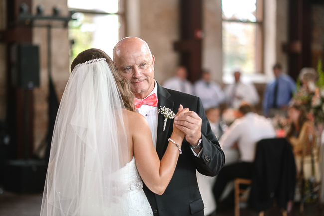 the bride and her father | photo: Photos by Kristopher | via http://emmalinebride.com