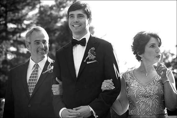 Dennis Drenner Photographs - baltimore museum wedding - groom walks down the aisle