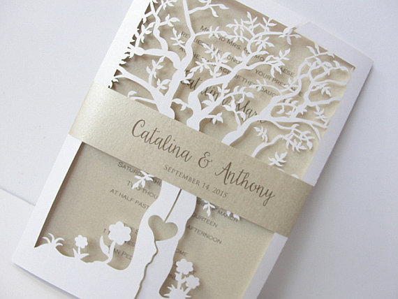 Laser Cut Wedding Invitations | http://emmalinebride.com/invites/laser-cut-invitations/