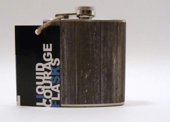 faux bois flask groomsmen gift idea by liquid courage