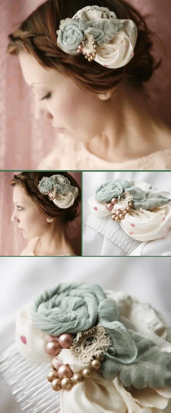 handmade wedding haircomb