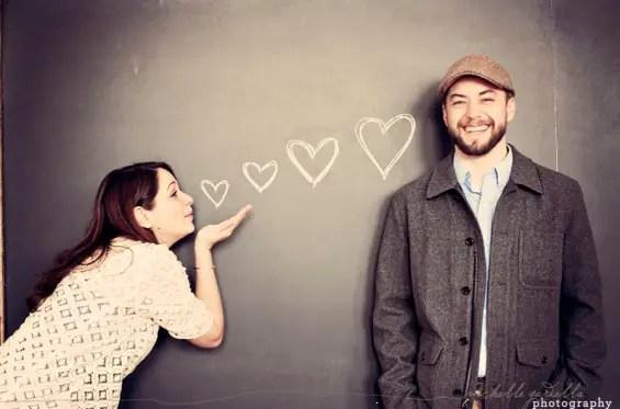 engagement shoot chalkboard