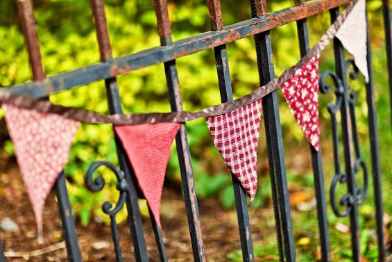rustic wedding bunting
