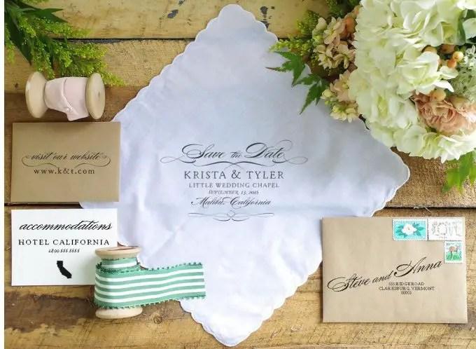 handkerchief wedding invitations