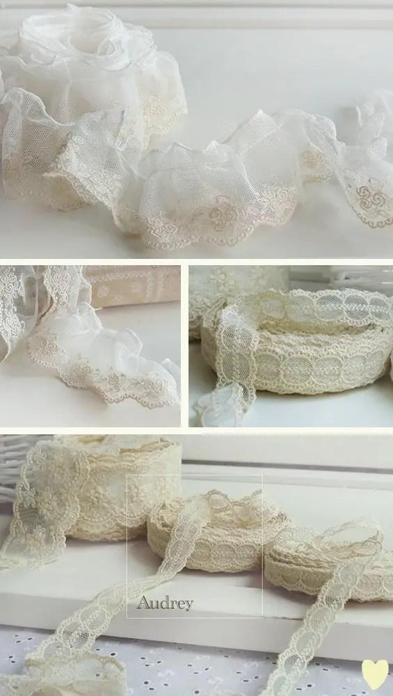 lace ribbon trim for diy burlap table runner