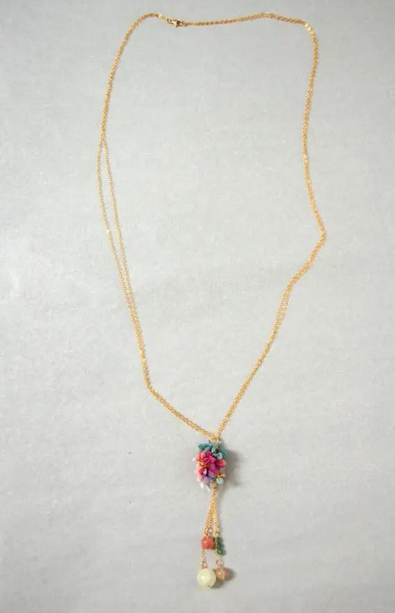 chiffon lariat necklace