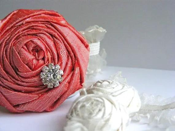 bridesmaid garters in red