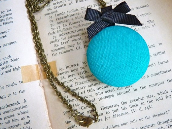aqua bridesmaid locket