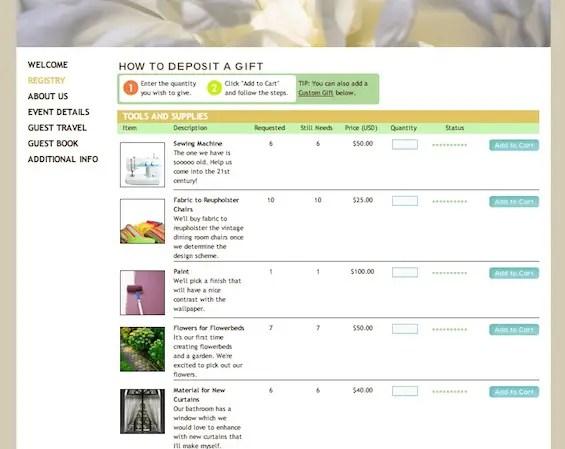 Diy registry bridal shower cash registry emmaline bride diy gift registry solutioingenieria Images