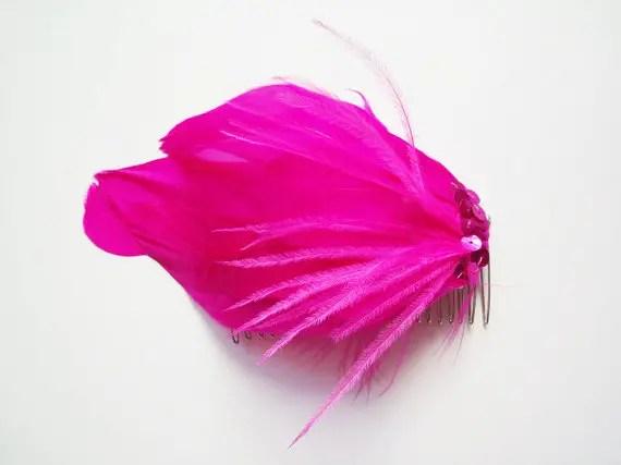 colorful bridal fascinators - honeysuckle hair accessory