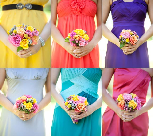 Colors Of Bliss Rainbow Bridesmaids Dresses Principles