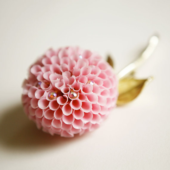 vintage flower brooch - 5