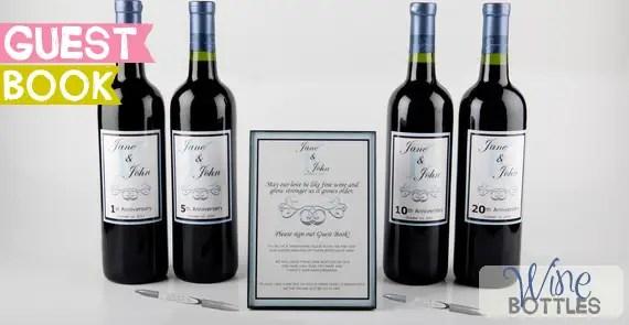 guest book wine bottles