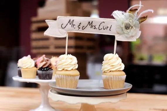 wedding cake topper banner