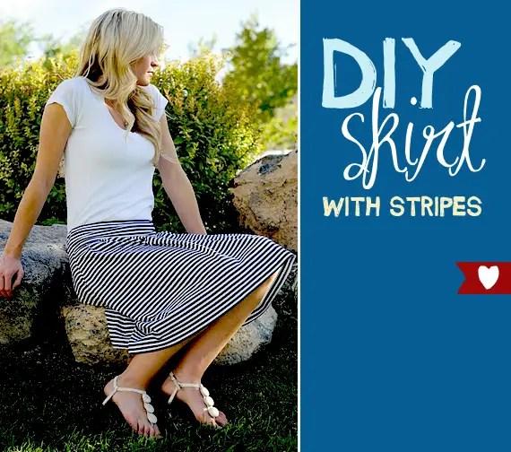 diy striped skirt