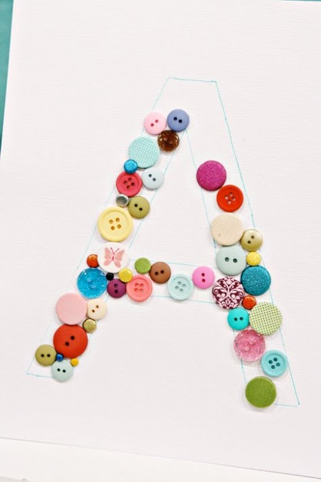 diy button monogram