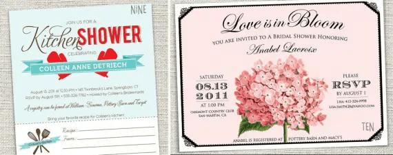 handmade bridal shower invites