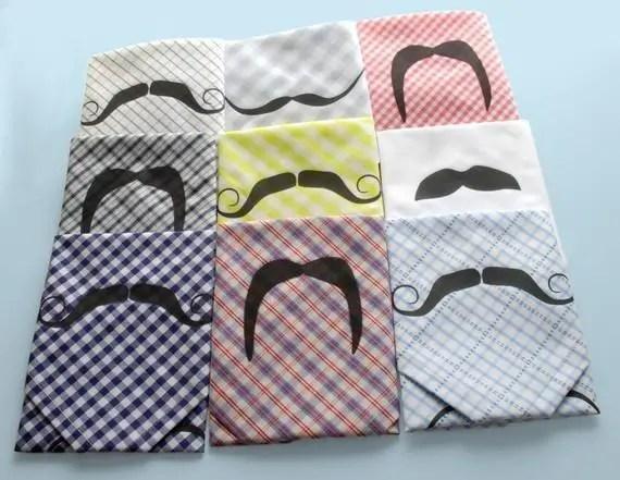 mustache handkerchiefs