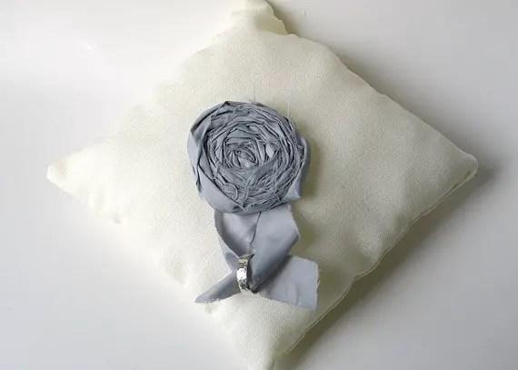linen ring pillows