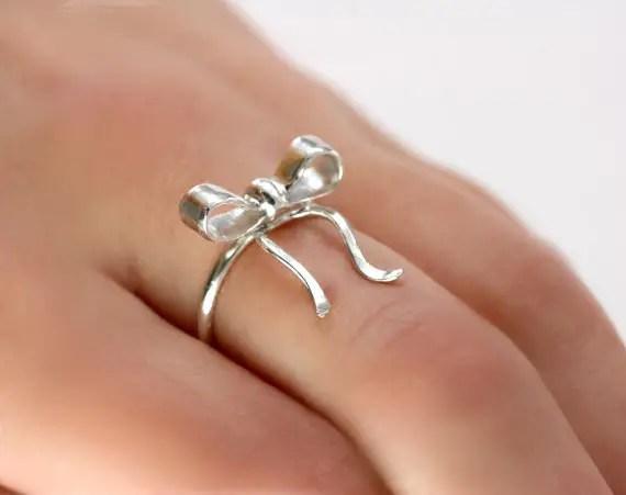 bridesmaid bow ring