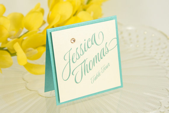 breakfast at tiffanys place cards by pennyanndesigns