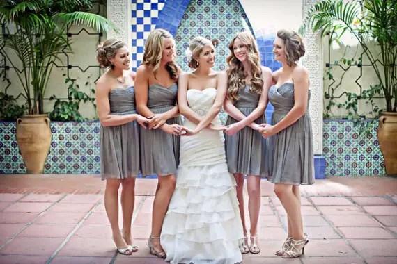 wedding color palette purple grey