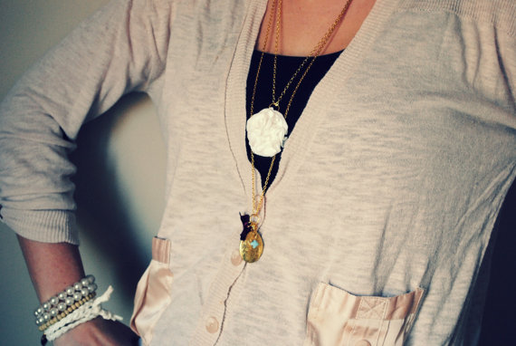 ruffle necklaces
