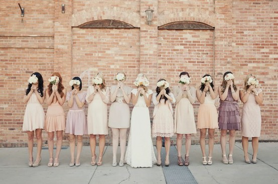 unique-bridesmaid-dresses - mismatched-bridesmaid-dresses