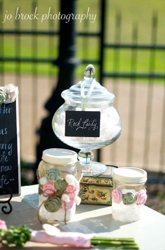 shabby chic wedding candy buffet