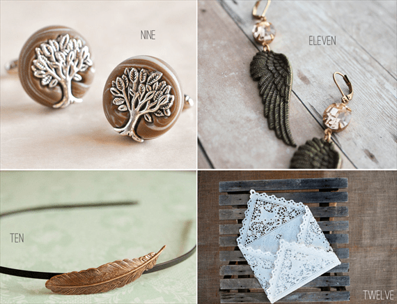 bohemian wedding cuff links and accessories