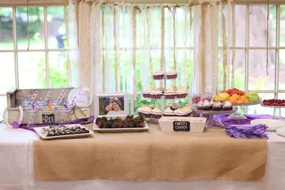 bridal shower dessert bar inspiration