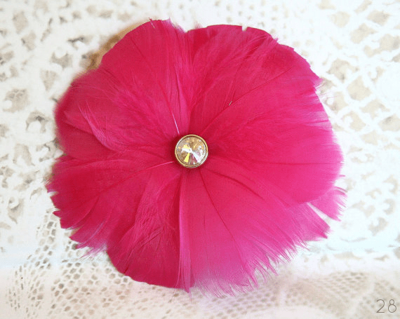 hot pink hair flower accessory