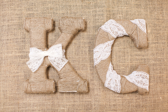 rustic bridal shower letters