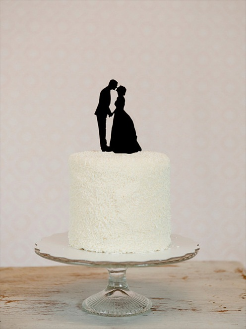 Silhouette cake toppers handmade wedding emmaline bride silhouette cake toppers junglespirit Choice Image
