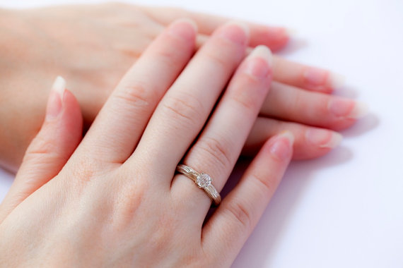 handmade wedding rings - solitaire