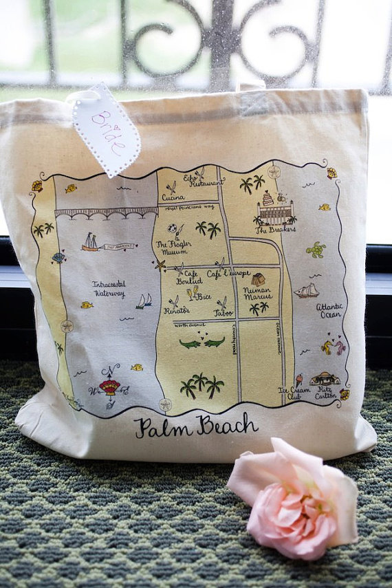 map tote bags