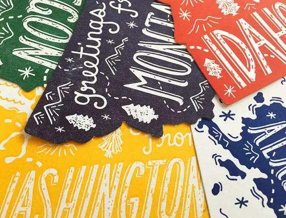 state postcards