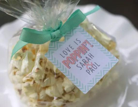 popcorn bridal shower favors