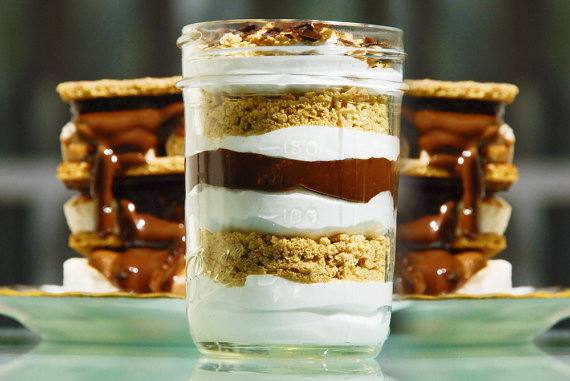 smores in a jar favors