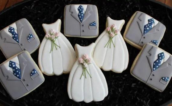 wedding dress cookies