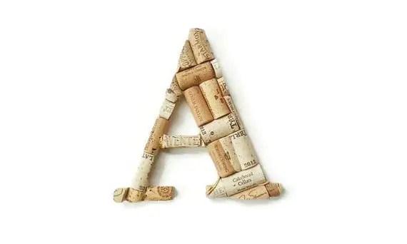 monogram cork letter