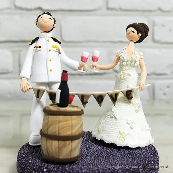 wine cake topper