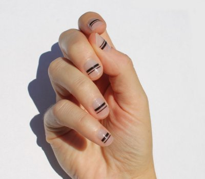 black-transparent-nail-wraps