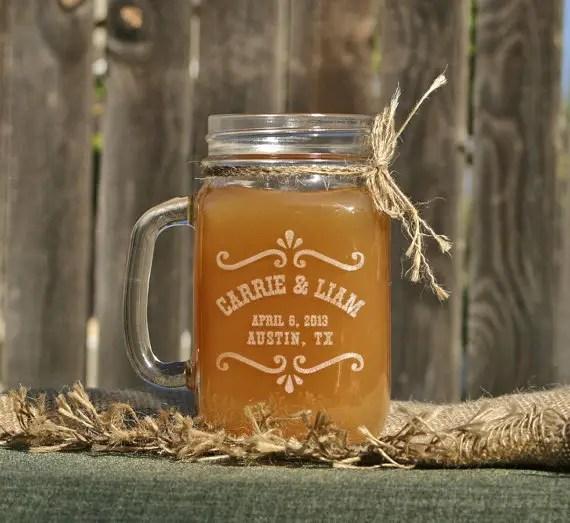 rustic mason jar glass by scissormill via barn reception ideas for weddings