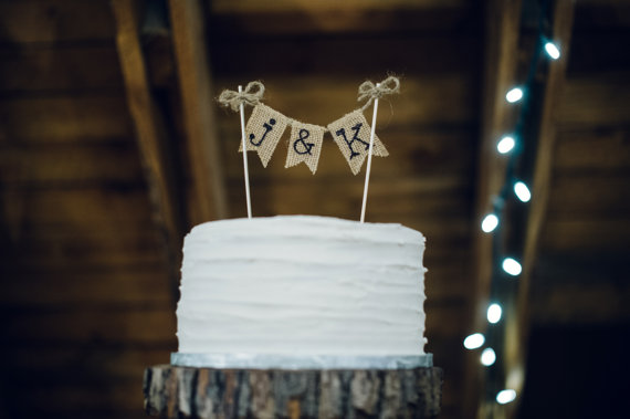 the craft and cupboard cake topper | barn reception ideas for weddings via http://emmalinebride.com/reception/barn-ideas-weddings/ 