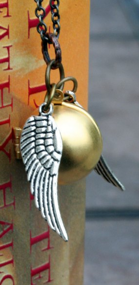 after all this time golden snitch necklace locket