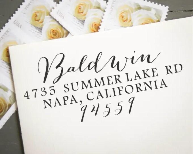 custom address stamp - image 1