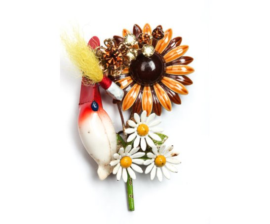 fishing boutonniere by the ritzy rose