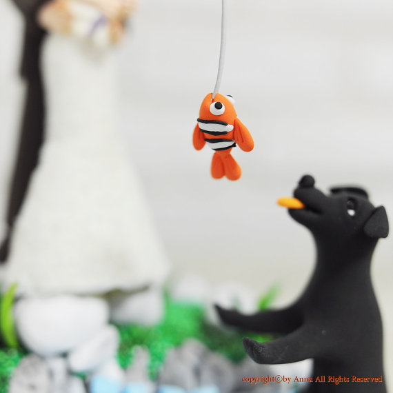 fishing cake topper right