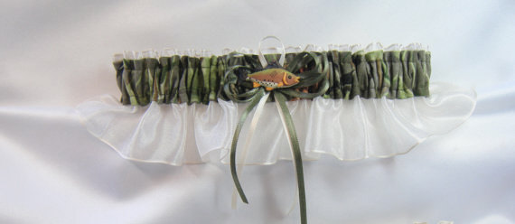 fishing garter by sheer satin and lace